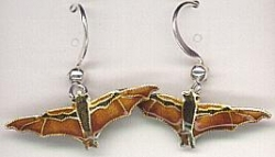Fruit Bat Drop Earrings by Bamboo - Product Image