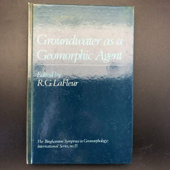 Groundwater as a Geomorphic Agent - Product Image