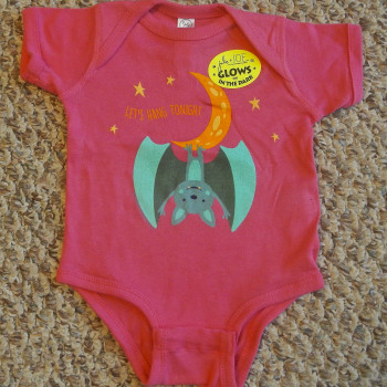 Hanging Moon Bat Infant Creeper (Pink) - Product Image