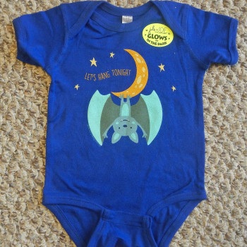 Hanging Moon Bat Infant Creeper (Royal) - Product Image