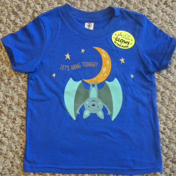 Hanging Moon Bat Infant Tee Shirt (Royal) - Product Image