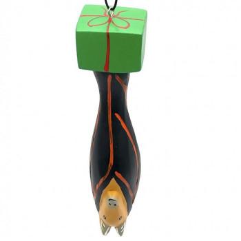 Holiday Bat Balsa Ornament - Product Image
