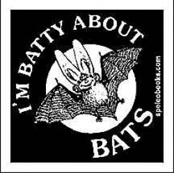 I'm Batty About Bats Sticker CURRENTLY ON BACK ORDER - Product Image