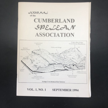 Journal of the Cumberland Splelean Association.  Vol #1 - Product Image