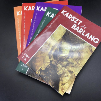 Karszt es Barlang, 1987 #1-11, 1988 #1, 1989 #1-11, 1989 special issue, 1990 #1 - Product Image
