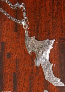 Kit Carson Signed Art Nouveau Bat Necklace - Product Image