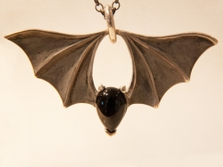 Large Bridge Bat Pendant - Product Image
