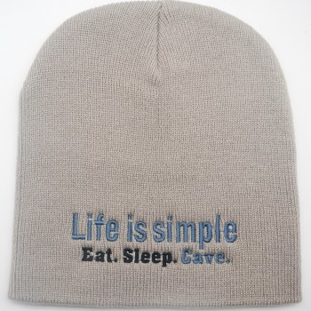Life Is Simple Eat. Sleep. Cave Cap - Product Image