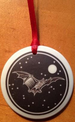 Little Brown Bat Porcelain Ornament - Product Image