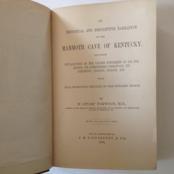 Mammoth Cave; An Historical and Descriptive Narrative of the Mammoth Cave of Kentucky (copy2) - Product Image