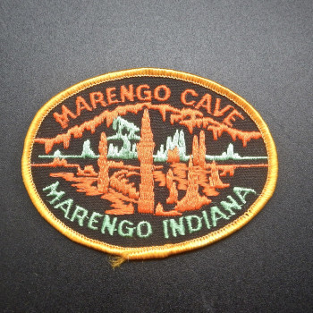 Marengo Cave Patch (Orange & Green Oval) - Product Image