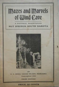 Mazes and Marvels of Wind Cave, a National Reservation, Hot Springs, South Dakota - Product Image