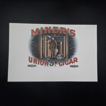 Miner's Union Cigar Label - Product Image