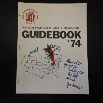 National Spelelogical Society Convention Guidebooks '74.  A parody  - Product Image