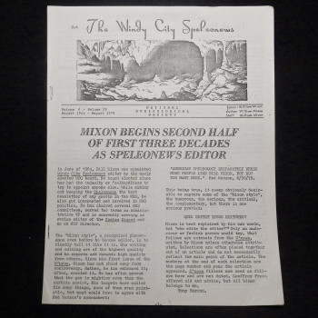 """Not The Windy City Speleonews """"special issue"""" honoring Bill Mixon - Product Image"""