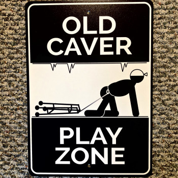 Old Caver Play Zone Sign - Product Image