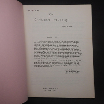 On Canadian Caverns, Reprint #5 - Product Image