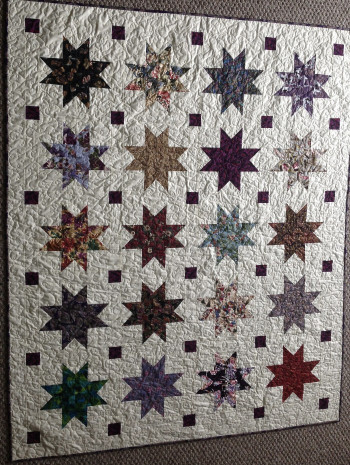"""Oriental Stars With Bats 58"""" by 70"""" Quilt - Product Image"""