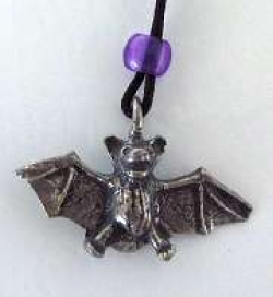 Pewter Bat Pendant - Product Image