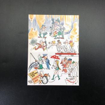 Plan Postojnske Jame, 1976 postcard - Product Image