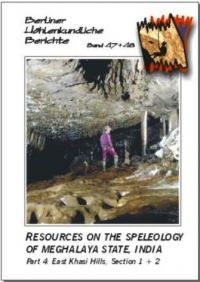 Resources on the Speleology of Meghalaya State, India. Part 4: East Khasi Hills. Section 1 + 2. SPECIAL ORDER BHB 47 & 48 - Product Image