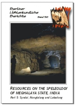 Resources on the Speleology of Meghalaya State, India. Part 5: Syndai, Nongtalang and Lakadong.BHB Volume 52 - Product Image
