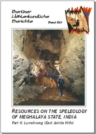 Resources on the Speleology of Meghalaya State, India. Part 6: Lumshnong (East Jaintia Hills).  BHB  Volume 60 - Product Image