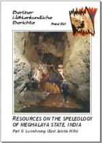 Resources on the Speleology of Meghalaya State, India. Part 6: Lumshnong (East Jaintia Hills).  BHB  Volume 60 - Product Image