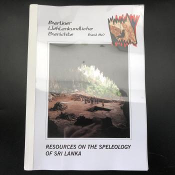 Resources on the Speleology of Sri Lanka  BHB Volume 80 - Product Image