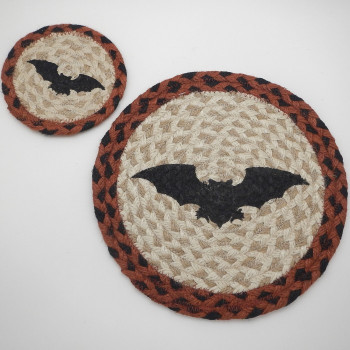 Rust/Black Bat Coaster Or Trivet - Product Image