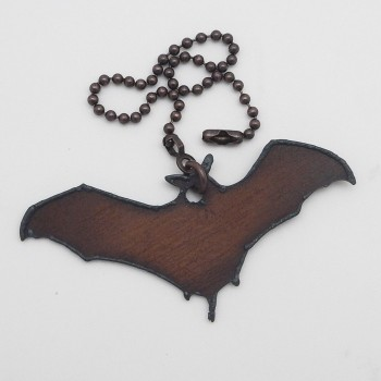 Rustic Bat Fan Pull - Product Image