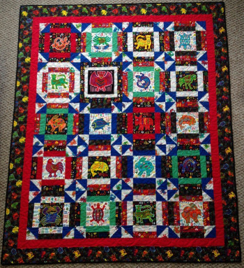 """San Blas Dreams 58"""" by 70"""" Quilt - Product Image"""