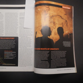 Science Illustrated, January 2008, with a single page on cave paintings in East Africa - Product Image