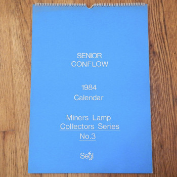 Senior Conflow Calendar Miners Lamp Collectors Series (#3-6, 1985-1987) sold individually - Product Image