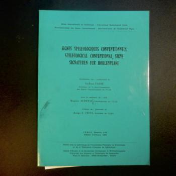 Signes Speleologiques Conventionnels, Guilhem Fabre, 1978 - Product Image
