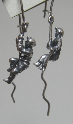 Silver On Rappel & Climber Earrings - Product Image
