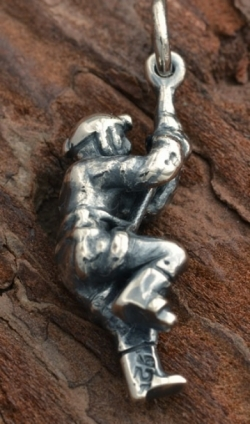 Silver On Rappel or Climber Pendants - Product Image