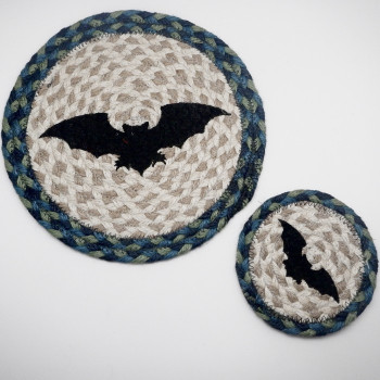 Sky/Forest Bat Coaster Or Trivet - Product Image