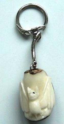 Tagua Nut Carving Key Ring - Product Image