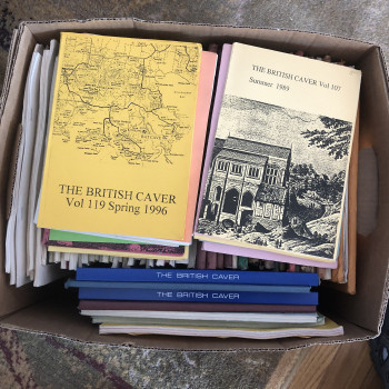 The British Caver, 88 Early Volumes (see list)  Media Mail shipping to be quoted - Product Image