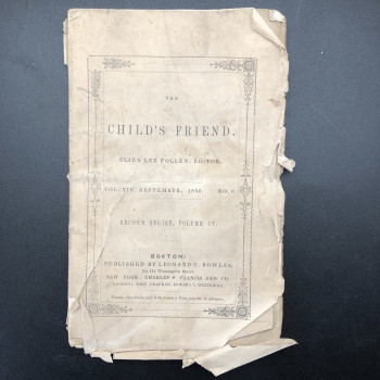 "The Child's Friend, periodical includes last chapter of ""Wanderings among the Pyrenees; or the Robber' Cave - Product Image"