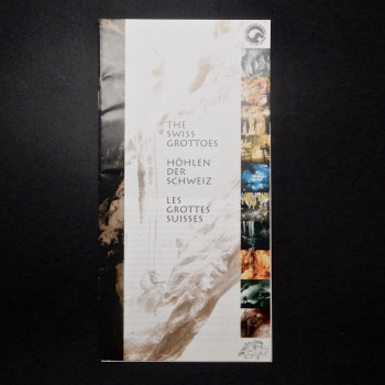 The Swiss Grottoes, Show cave brochure with postcard - Product Image