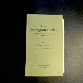 The Underground Atlas by Middleton and Waltham, 1986, Uncorrected page proofs - Product Image
