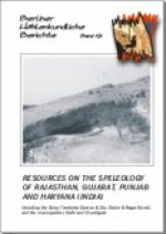 Resources on the Speleology of Rajasthan, Gujarat, Punjab and Haryana (India). Including the Union Territories Daman & Diu, Dadar & Nagar Haveli, and the municipalties of Delhi and Chandigar, BHB Vol. 19 - Product Image