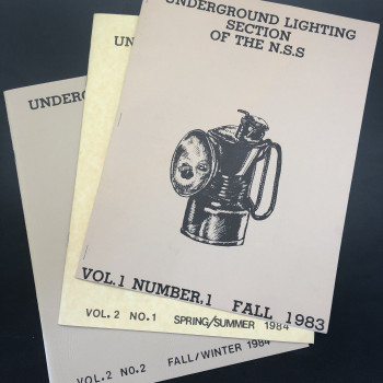 Underground Lighting Section of the NSS, Vol 1 #1 Fall 1983, Vol 2 # 1 and 2, - Product Image