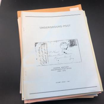 Underground Post Vol 1, #1-3 Vol 2, #1-3 Vol 3#1-4 Vol 4 #1-2 Vol 5-8, #1-3 each Vol 9, #2-3 Vol 10 -13, # 1-3 each Vol 14, #1-2 Vol 15 and 16, - Product Image