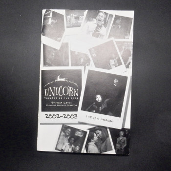 Unicorn Theatre on the Edge, 2002-2003 season, playbill for Bat Boy.  Includes postcard and ticket stub - Product Image